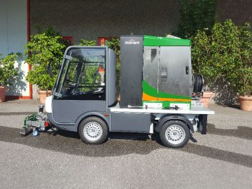 Electric vehicle BIOMANT weeding control system - Esagono Energia
