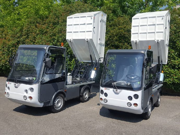 Gastone furgone elettrico con vasca RSU - Esagono Energia