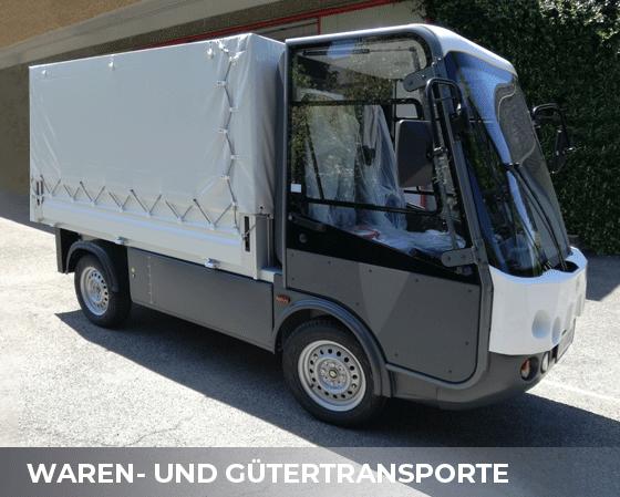 Waren und Guetertrnsporte - elektrische Fahrzeuge